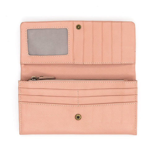 Roamer Leather Wallet - blush