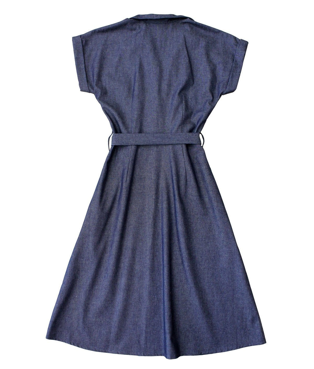 Dragstar Shirt Dress - Dark Denim