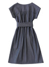 Dragstar Smock Dress with obi belt- Dark Denim Ethical Fashion Slow Fashion made in Sydney