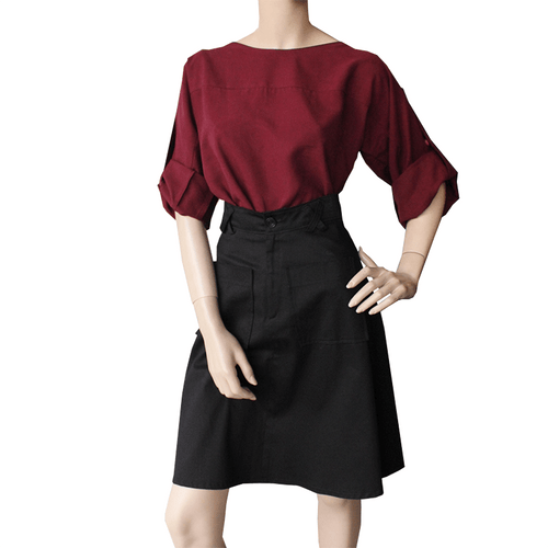 Dragstar Rothko Top - Burgundy Tencel Hand made Ethical womens  fashion made in Australia