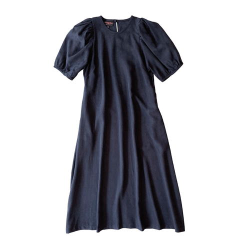 Dragstar Trapeze Dress - charcoal 100% tencel Ethical womens fashion made in Sydney Australia