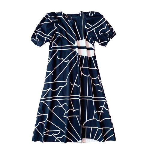 Dragstar Trapeze Dress - Sunrise Navy