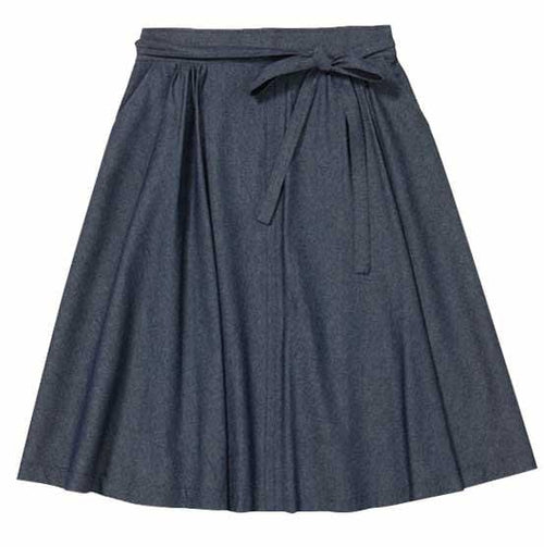 Double Wrap Skirt -Dark Denim Dragstar Ethical womens fashion made in Sydney