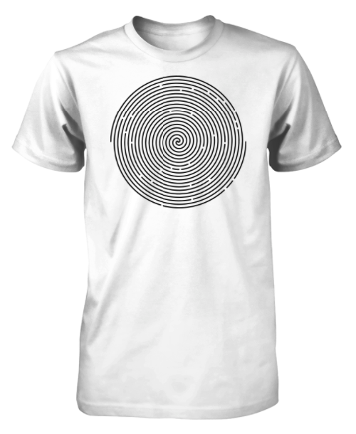 Jimseven black swirls t-shirt