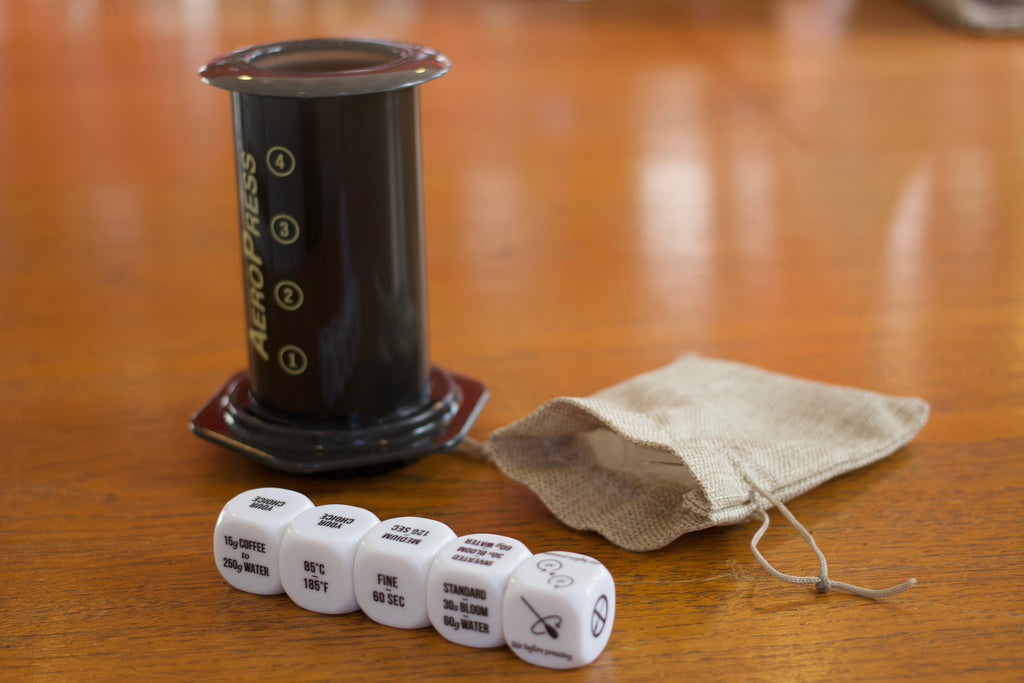 Coffee Brewing Dice