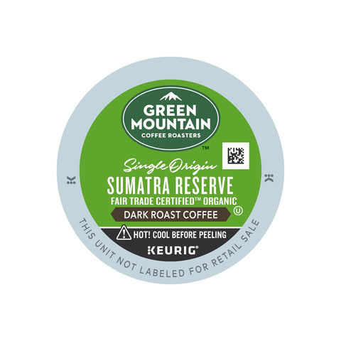 Keurig Green Mountain Sumatran reserve Coffee K Cups