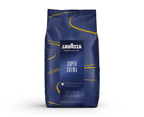 Lavazza Super Crema Coffee Beans for coffee machines Ireland