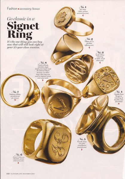 Glamour signet rings
