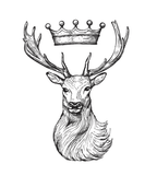 Stag and Crown - Sterling Silver