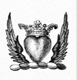 Heraldic Style - Winged Heart with Crown
