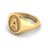 D - Z - Alphabet Signet Ring A - Z -  9 Carat Yellow Gold Signet Ring
