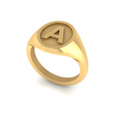 A - Alphabet Signet Ring A - Z -  9 Carat Yellow Gold Signet Ring
