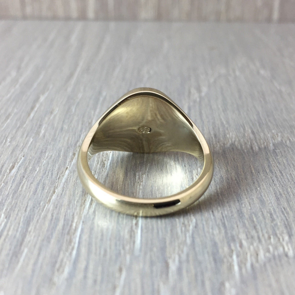 small oval signet ring 9 carat gold