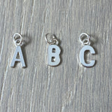 Tiny A to Z Silver Pendant / Charm