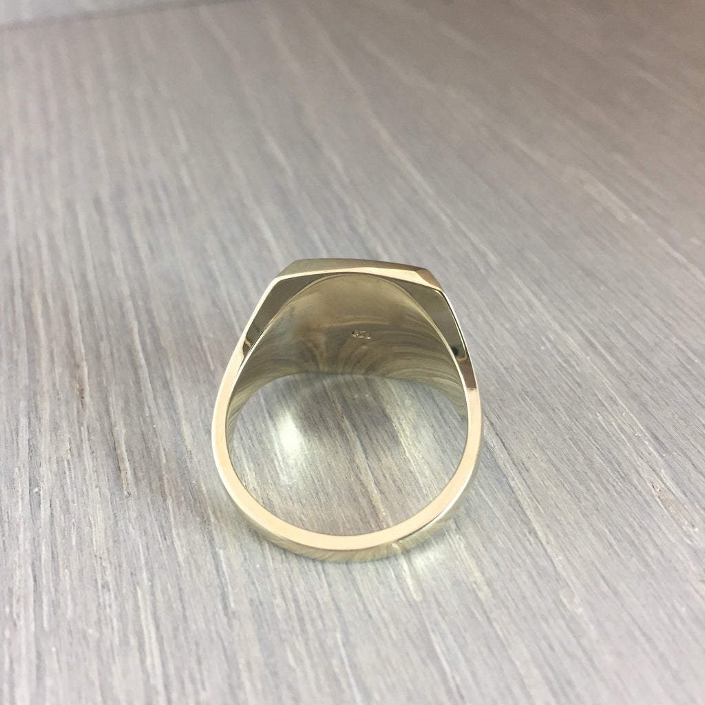 Large cushion shape signet ring