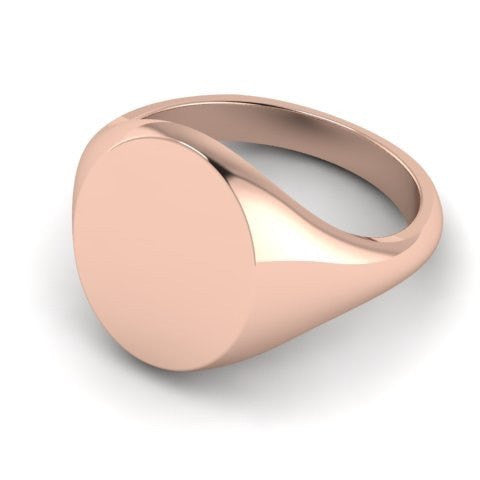 oval signet ring 9 carat rose gold 16mm x 13mm