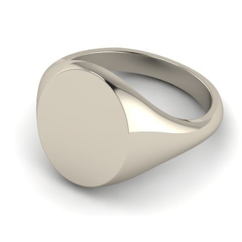 oval signet ring sterling silver 14mm x 12mm