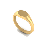 Small Landscape Oval 8mm x 5.5mm - 9 Carat Yellow Gold Signet Ring