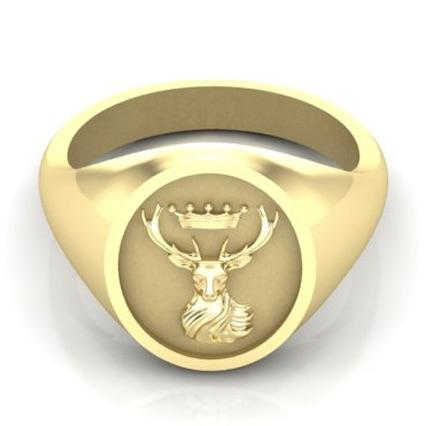 Stag and Crown - 9 Carat Yellow Gold