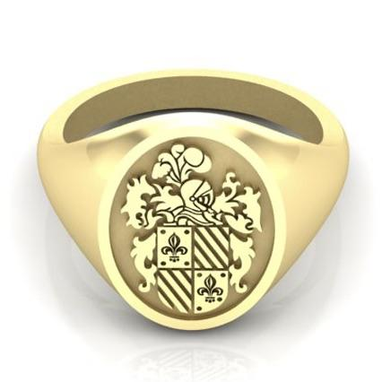 Fleur de Lis Coat of Arms - 9 Carat Gold