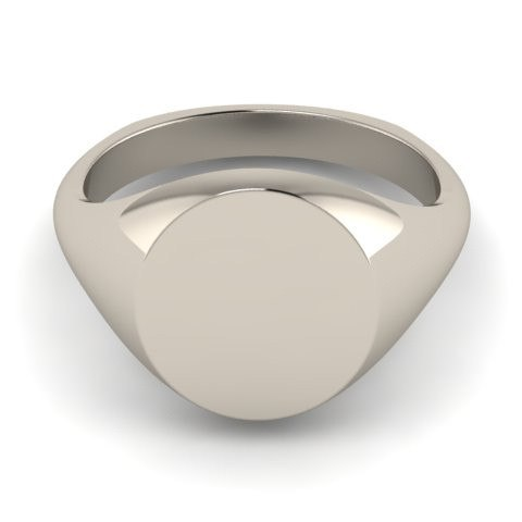 9 CARAT WHITE GOLD SIGNET RINGS