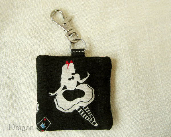 Little Alice Earbud Pouch - Dragon in Knots handmade accessory