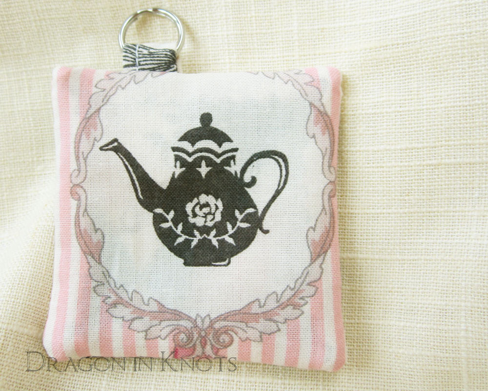 Tea at the Hatter's - Earbud Pouch - Dragon in Knots - Earbud Pouches