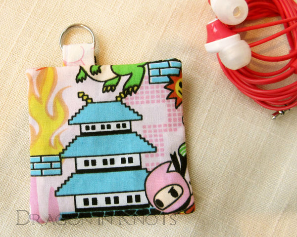 Pixel Pagoda Earbud Pouch -  - Earbud Pouches - Dragon in  Knots - 2
