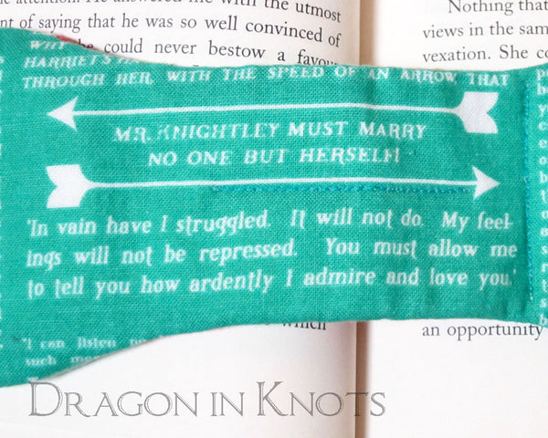 Pride and Prejudice Book Weight - Dragon in Knots handmade accessory