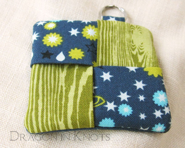 Green and Blue Earbud Pouch -  - Earbud Pouches - Dragon in  Knots - 3