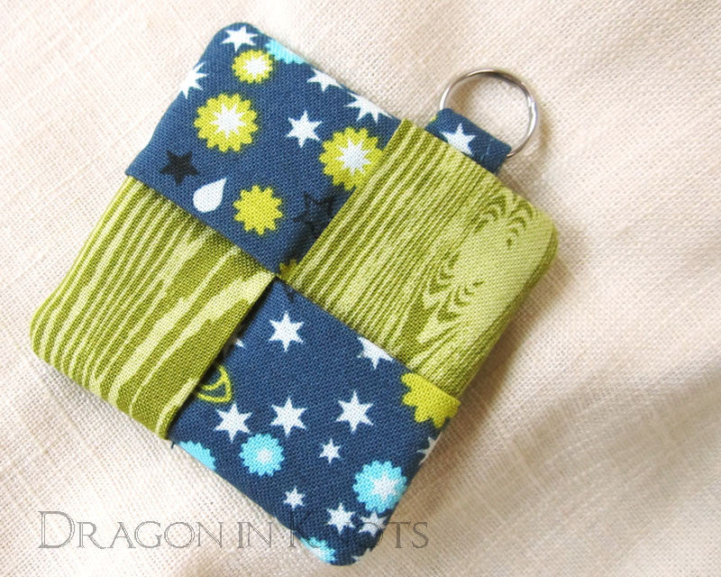 Green and Blue Earbud Pouch -  - Earbud Pouches - Dragon in  Knots - 1