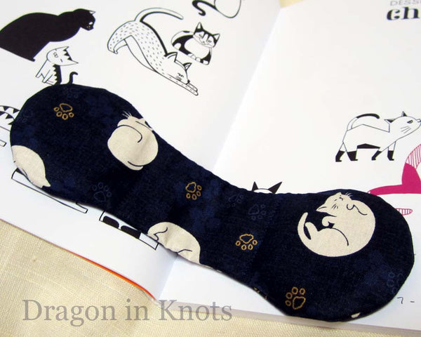 Cat Book Weight - Blue or Red - Dragon in Knots handmade accessory