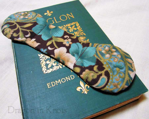 Aqua Flowers Book Weight - Dragon in Knots - Book Weights