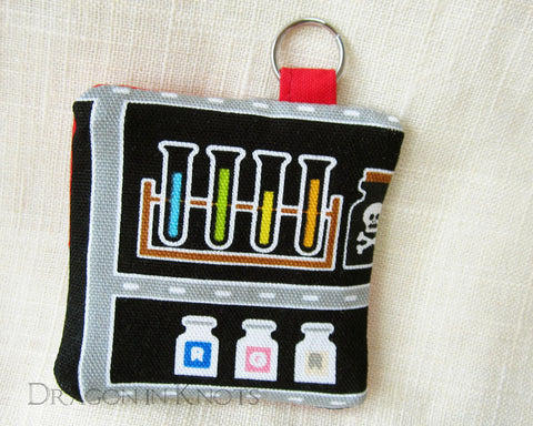 Chemistry Test Tubes Earbud Pouch - Gift for a Woman in Science