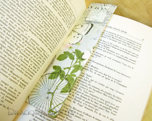 Hot Air Balloon Bookmark -  - Fabric Bookmark - Dragon in  Knots - 2