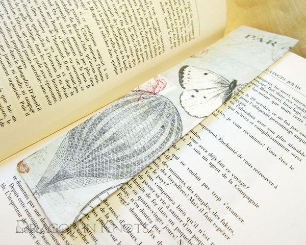 Hot Air Balloon Bookmark -  - Fabric Bookmark - Dragon in  Knots - 5
