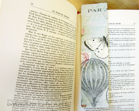 Hot Air Balloon Bookmark - Dragon in Knots - Fabric Bookmarks