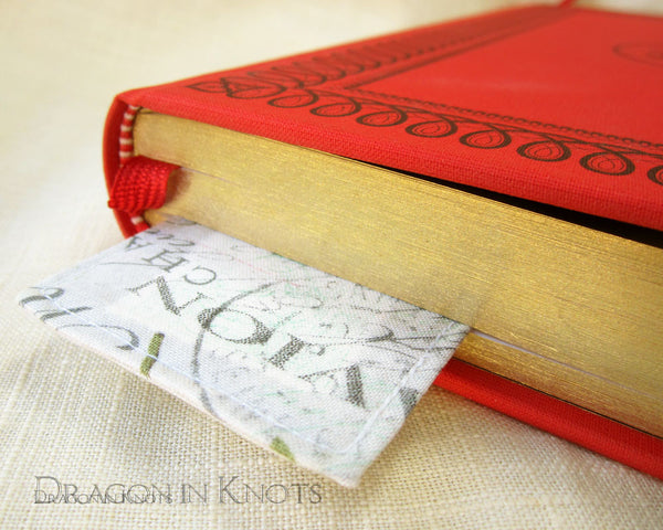 Hot Air Balloon Bookmark -  - Fabric Bookmark - Dragon in  Knots - 6