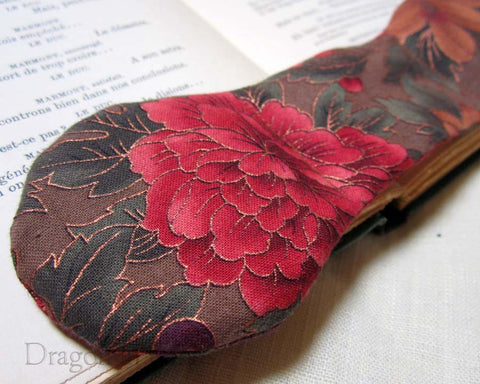 Autumn Flowers Book Weight - Dragon in Knots handmade accessory
