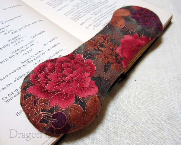 Autumn Flowers Book Weight - Fabric and Metal Book Weights