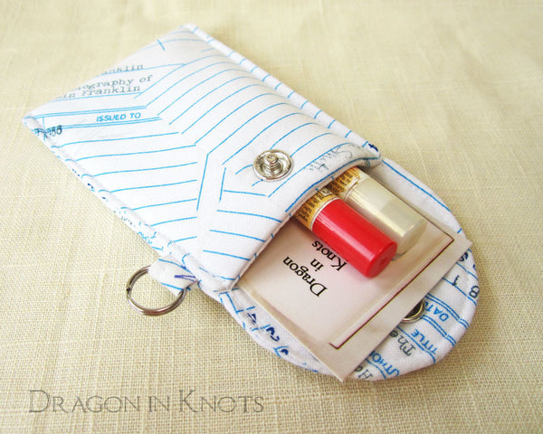Checkout Slips Lip Balm and ID Pouch - The Secret Garden - Dragon in Knots handmade accessory