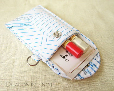 Checkout Slips Lip Balm and ID Pouch - The Secret Garden
