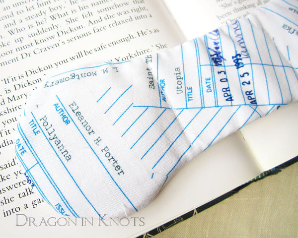 Library Checkout Cards Book Weight - Dragon in Knots handmade accessory