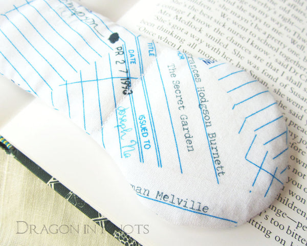 Library Checkout Cards Book Weight - Dragon in Knots - Book Weights