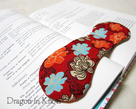 Book Weight - Lotus Blossoms - Dragon in Knots handmade accessory