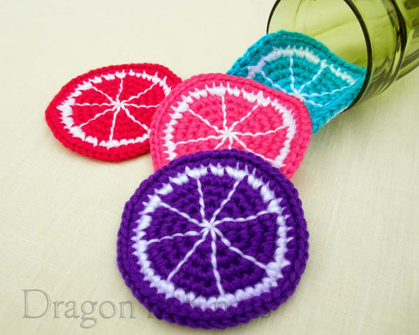 Mutant Fruit Coasters - Set of 4 - Dragon in Knots - Coasters