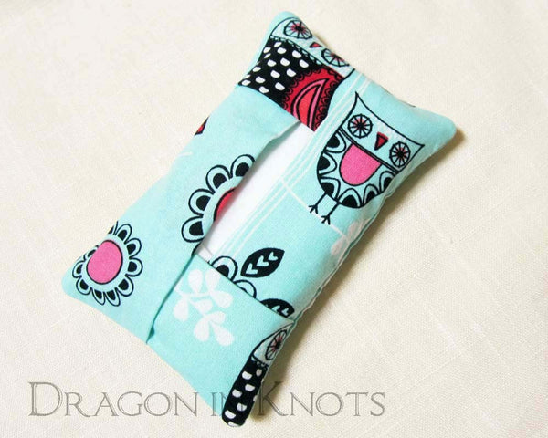 Owl Pocket Tissue Holder - Dragon in Knots handmade accessory