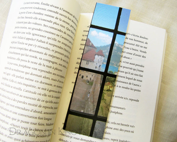 Through the Window Bookmark - Dragon in Knots - Photo Bookmarks