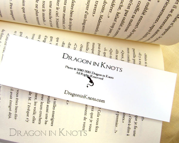 Pink House in the Park Bookmark - Dragon in Knots - Photo Bookmarks