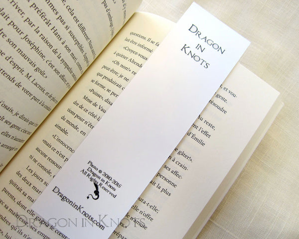 Alpine Stairs Bookmark - Dragon in Knots - Photo Bookmarks